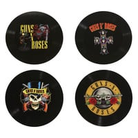 Guns N Roses Logos Vinyl Coaster Set