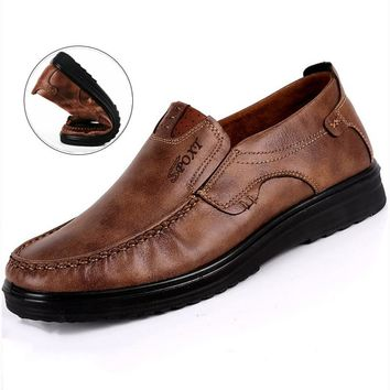 Casual Men Shoes Summer Flats Male Loafers PU leather Moccasin Slip On Boat Shoe Plus Size 38-48 Camel Chaussure Homme big size