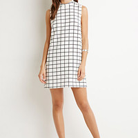 Grid Pattern Shift Dress