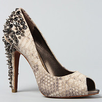The Lorissa Shoe in Black and White Snake
