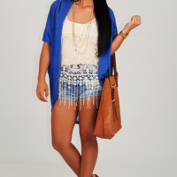 From The Top Cardigan: Blue