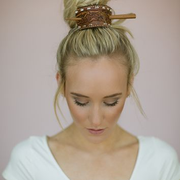 Leather Bun Wrap