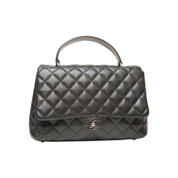 Chanel Black Caviar Jumbo Kelly Bag