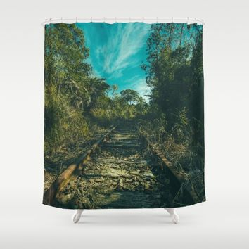 Abandoned Shower Curtain by Mixed Imagery