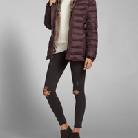 Faux-Fur Lined Puffer Jacket
