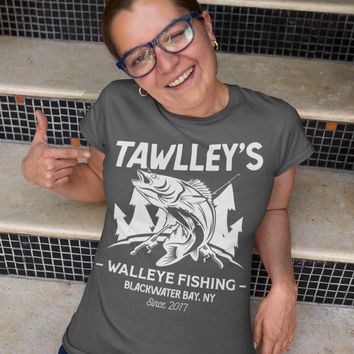 Women's Personalized Fishing T-Shirt Fisherman Trip Walleye Fishing Shirt Expedition Tee Shirt Men's Gift Custom Shirts