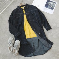 Women'S Loose Lapel Denim Jacket