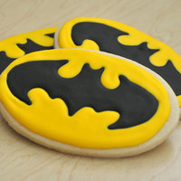 Pow, Bam, Batman cookies, one dozen Superhero cookies.