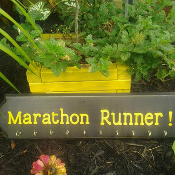 Medal holder Marathon Runner Hand Painted Sports