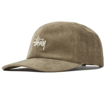 No Wale Cord Low Pro Cap in Olive