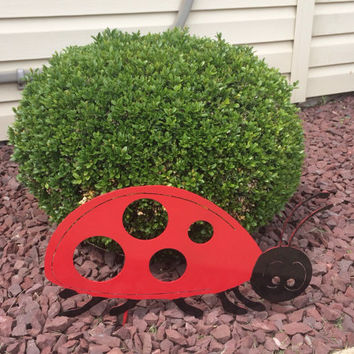 Lady bug lawn ornament yard art