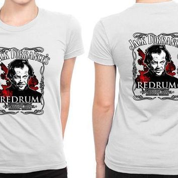 Jack Torrance Redrum B 2 Sided Womens T Shirt
