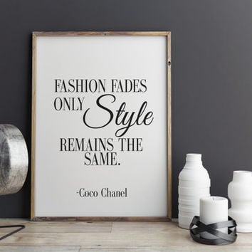 COCO CHANEL Print At Home Inspirational Print Coco Chanel Poster Coco Chanel Quote Typography Quote Home Decor Motivational Art Coco Chanel