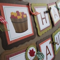 Happy Autumn Thanksgiving Banner Decoration for Fall Season