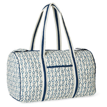 Pony Club Duffel, Navy/White, Medium, Duffels