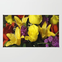 Painted Floral Bouquet  Rug by KCavender Designs