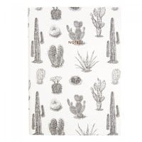 Urban Outfitters x Ohh Deer Grey Cactus A5 Notebook | Notebooks | Stationery | Ohh Deer