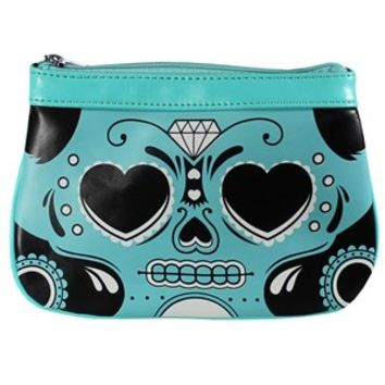 Sourpuss Sugar Skull Clutch Purse - Buy Online at Grindstore.com