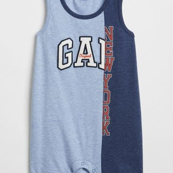 babyGap Logo Remix Shorty One-Piece | Gap