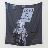 Love is the Answer Wall Tapestry by The Dreamery