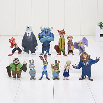 Zootopia, Mystery Mini Figure set of 12 Utopia Action Figure Movie Pvc Models 4-8cm Nick Fox Judy Rabbit Dolls