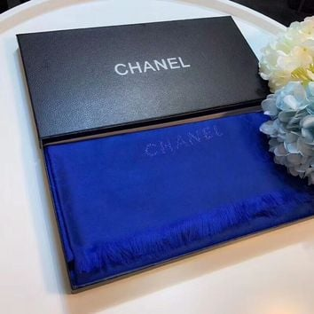 Chanel Keep Warm Scarf Smooth Skin-friendly Scarves Velvet Shawl #3