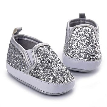 Newborn Crib Shoes Soft Sole Anti-slip Baby Sneakers