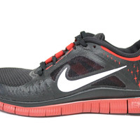 Nike Men's Free Run 3 NSW Black/White/Gym Red Running Shoes 652922 001