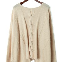 Cream Cable Knit Oversized Sweater