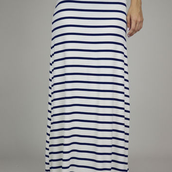 Sweet Sailor Stripes Maxi Skirt