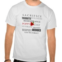 Poppy day words - T-shirt