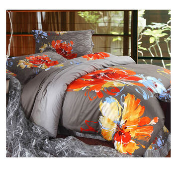 Cotton Active floral printing Quilt Duvet Sheet Cover Sets 2.0M/2.2M Bed Size 41