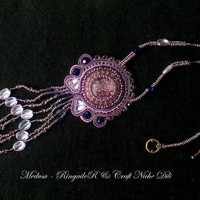 Soutache necklace Medusa - use coupon FALL2014 - for the free shipping.