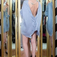 Come Hither - The Backless Sweater