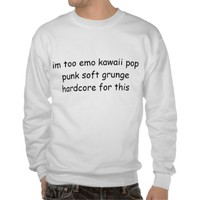 lazy stereotype pullover sweatshirts