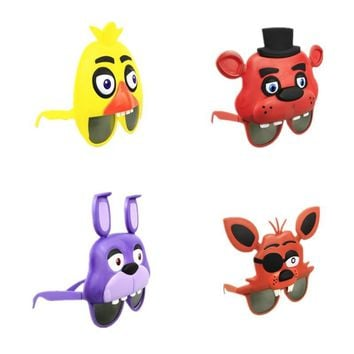 4Styles  At  mask Freddy Chica Foxy Bear glasses party Latex Mask cosplay Figure Toy  Toy Adult gift