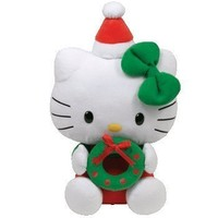 Ty Beanie Buddies Hello Kitty With Wreath