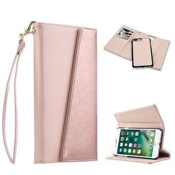 COSMO WRISTLET WALLET WITH DETACHABLE MAGNETIC SNAP-ON CASE - ROSE GOLD