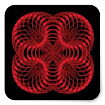 Symmetric pattern square sticker