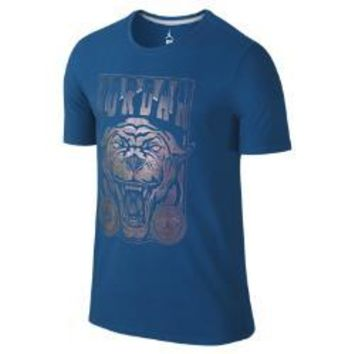 Jordan Black Cat Icon Men's T-Shirt, by Nike