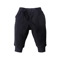 Newborn Baby Boys Girls Pants 2017 New Autumn Solid Casual Middle Elastic Waist Black Pants 0-2T Baby Boys Girls Trousers 4p089
