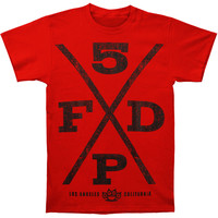 Five Finger Death Punch Men's  Hardcore T-shirt Red Rockabilia