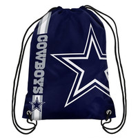 Dallas Cowboys Official NFL Team Logo Drawstring Backpack