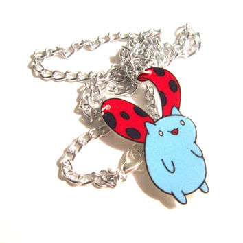 catbug necklace, cute jewelry, kawaii cute, kawaii grunge, fangirl, cosplay