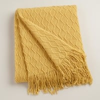Yellow Wave Throw