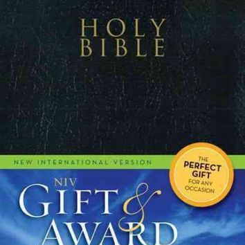 Holy Bible: New International Version, Black, Leather-Look, Gift & Award Bible