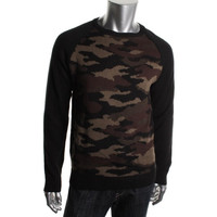 Retrofit Mens Camouflage Crew Neck Pullover Sweater