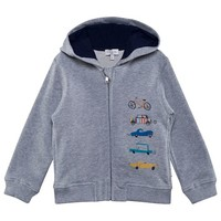 Paul Smith Junior Grey Transport Print Hoodie | AlexandAlexa