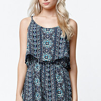 LA Hearts Bobble Trim Overlay Romper at PacSun.com