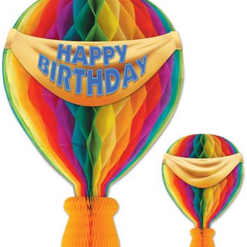 Tissue Hot Air Balloon - Banner Printed 2 Sides - Everyday/Birthday Case Pack 12